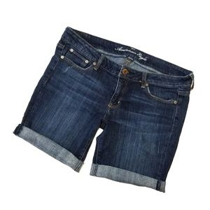 American Eagle midi jean shorts 12 womens